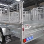 8×5 Galvanised Single Axle Trailer