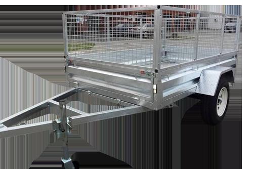 8×5 Galvanised Single Axle Trailer