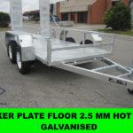 10X5 Galvanised Machinery Trailer